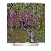 Asian Spring Shower Curtain