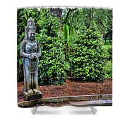 Asian Statue Jefferson Island  Shower Curtain
