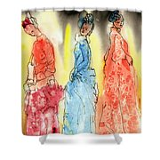 Asian Three Shower Curtain