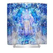 Asiaq-goddessofweather Shower Curtain