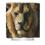 Asiatic Lion Shower Curtain