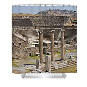 Asklepion Columns And Amphitheatre Shower Curtain