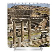 Asklepion Theatre And Columns Shower Curtain