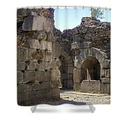 Asklepios Temple Ruins View 4 Shower Curtain