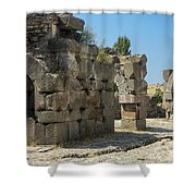 Asklepios Temple Ruins View 5 Shower Curtain