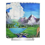Aslan's Country Shower Curtain