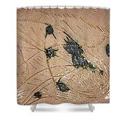 Asleep - Tile Shower Curtain