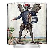 Asmodeus, King Of Demons, 18th Century Shower Curtain
