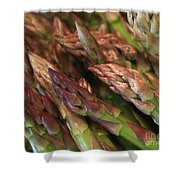 Asparagus Tips Shower Curtain