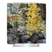 Aspen Gold Shower Curtain