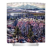 Aspen In April Shower Curtain