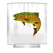 Aspen Leaf Rainbow Trout 1 Shower Curtain