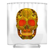 Aspen Leaf Skull 12 Shower Curtain