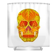 Aspen Leaf Skull 13 Shower Curtain