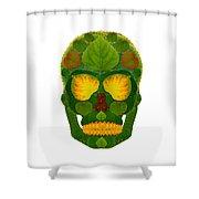 Aspen Leaf Skull 9 Shower Curtain