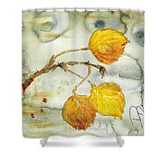 Aspen Leaves Shower Curtain