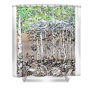 Aspendoodle Shower Curtain