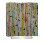 Aspens Abstract II Shower Curtain