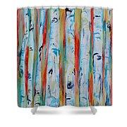 Aspens Abstract IIi Shower Curtain