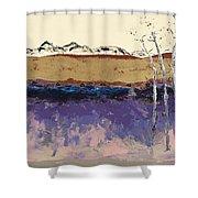 Aspens In Winter Shower Curtain