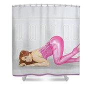 Ass Up  Shower Curtain