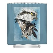 Assail Shower Curtain by Barbara Keith
