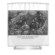 Assassination Of President Lincoln Shower Curtain