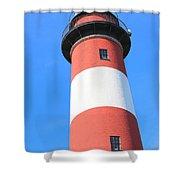 Assateague Lighthouse Abstract Shower Curtain