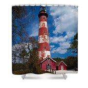 Assateague Lighthouse Shower Curtain