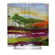 Assateague Sunset Shower Curtain