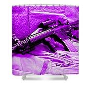 Assault Rifle Shower Curtain