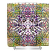 Assent From The Womb In The Flower Tree Of Life Shower Curtain
