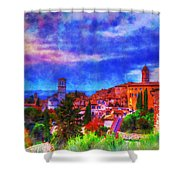 Assisi At Dusk 2 Shower Curtain