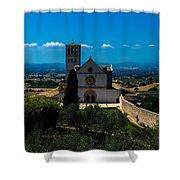 Assisi-basilica Di San Francesco Shower Curtain