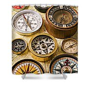 Assorted Compasses Shower Curtain