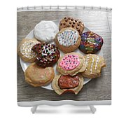 Assorted Cookies Shower Curtain