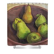Assorted Pears Shower Curtain