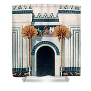 Assyrian Temple Shower Curtain