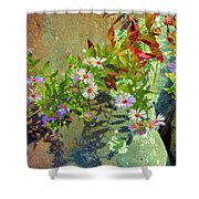 Aster Wildflowers Shower Curtain