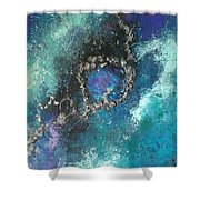 Asteroid Ring Shower Curtain