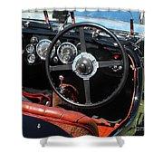 Aston Martin Dashboard Shower Curtain