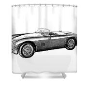 Aston Martin Db-5 Shower Curtain by Peter Piatt