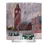 Aston Martin Racing In London Shower Curtain