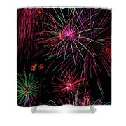 Astonishing Fireworks Shower Curtain