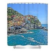 Astonishing Magnificient Manarola In Cinque Terre Shower Curtain