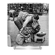 Bag Lady Shower Curtain by Eric Lake