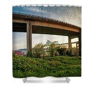 Astoria Bridge Sunrise Shower Curtain
