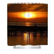 Astoria Oregon Sunset Shower Curtain