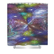 Astral Anomaly Shower Curtain