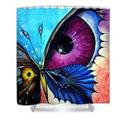 Astral Butterfly. Soul - Memory - Mind Shower Curtain